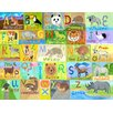 Oopsy Daisy Globally Wild Alphabet by Donna Ingamson Canvas Art