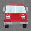 Oopsy Daisy Ways to Wheel Fire Truck Canvas Art
