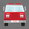 Oopsy Daisy Ways to Wheel Fire Truck by Vicky Barone Personalized Canvas Art