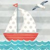 Oopsy Daisy Let's Set Sail Boat by Anne Bollman Canvas Art