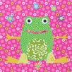 Oopsy Daisy Floral Frog Canvas Art