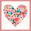 Oopsy Daisy Heart by Kim Anderson Framed Graphic Art