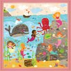 Oopsy Daisy Mermaid Mingle and Play by Liza Lewis Framed Graphic Art