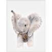 Oopsy Daisy Baby Elephant Trumpet Canvas Art