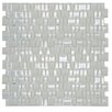The Bella Collection Mini Mix Shiny and Satin Mosaic Tile in Mist