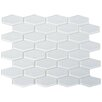"The Bella Collection 3"" x 1"" Shiny Hexagon Tile in Snow"