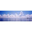 iCanvas Panoramic Seascape with Sunshine Skyway Bridge in Gulf of Mexico, Florida Photographic Print on Canvas