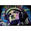 iCanvas Liberty Drip 002 Canvas Print Wall Art