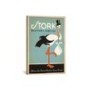 iCanvas Anderson Design Group Stork Delivery Service Vintage Advertisement on Canvas in Green