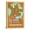 iCanvas 'Brown Bovine Chocolate Mile' by Anderson Design Group Vintage Advertisement on Canvas