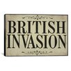 iCanvas Color Bakery British Invasion Textual Art on Canvas