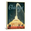 """iCanvas """"Buckingham Fountain"""" by Anderson Design Group Vintage Advertisement on Canvas"""