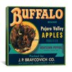 iCanvas Buffalo Brand Apples Crate Label Vintage Advertisement on Canvas
