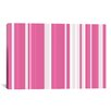 iCanvas Striped Bubblegum Milkshake Graphic Art on Canvas