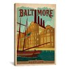 iCanvas Baltimore, Maryland Vintage Advertisement on Canvas