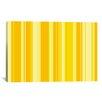 iCanvas Striped Banana Orange Milkshake Graphic Art on Canvas