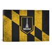 iCanvas Baltimore Flag, Grunge Cracks Graphic Art on Canvas