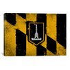 iCanvas Baltimore Flag, Grunge Painted Graphic Art on Canvas
