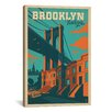 iCanvas Brooklyn, New York by Anderson Design Group Vintage Advertisement on Canvas