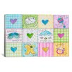 """iCanvas Pat Yuille """"Baby Patchwork 1"""" Canvas Wall Art"""
