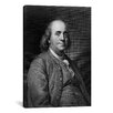 iCanvas Political Benjamin Franklin Portrait Graphic Art on Canvas