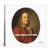 iCanvas Benjamin Franklin Quote Canvas Wall Art
