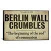 iCanvas Color Bakery 'Berlin Wall' Textual Art on Canvas