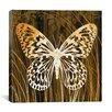 "iCanvas ""Butterflies & Leaves"" Canvas Wall Art by Erin Clark"