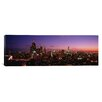 iCanvas Panoramic Buildings Lit Up at Dusk, Chicago, Illinois, Photographic Print on Canvas