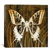 "iCanvas ""Butterflies & Leaves I"" by Erin Clark Graphic Art on Canvas"