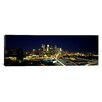 iCanvas Panoramic Buildings Lit Up at Night in a City, Minneapolis, Hennepin County, Minnesota, Photographic Print on Canvas