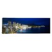 iCanvas Panoramic Buildings on the Waterfront Waikiki, Hawaii Photographic Print on Canvas