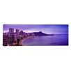 iCanvas Panoramic Buildings at the Coastline with A Volcanic Mountain Photographic Print on Canvas