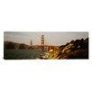 iCanvas Panoramic Bridge over a Bay, Golden Gate Bridge, San Francisco, California Photographic Print on Canvas