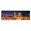 iCanvas Panoramic Buildings Lit up at Dusk, Baltimore, Maryland, Photographic Print on Canvas