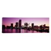iCanvas Panoramic Buildings Lit up at Dusk Biscayne Bay, Miami Photographic Print on Canvas