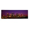 iCanvas Panoramic Buildings Lit up at Night, Houston, Texas Photographic Print on Canvas