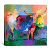 "iCanvas ""Bull"" By Richard Wallich Graphic Art on Canvas"