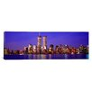 iCanvas Panoramic Buildings at the Waterfront Lit up at Dusk World Trade Center, Manhattan, New York Photographic Print on Canvas