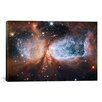iCanvas Astronomy and Space Celestial Snow Angel S106 Nebula (Hubble Space Telescope) Photographic Print on Canvas