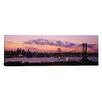 iCanvas Panoramic Ben Franklin Bridge Philadelphia, Pennsylvania Photographic Print on Canvas