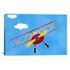 "iCanvas Shelly Rasche ""Cat in a Bi-Plane"" Canvas Wall Art"