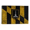 iCanvas Baltimore Flag, Grunge Vintage Map Graphic Art on Canvas