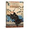 iCanvas Japanese 'Black Bear' by Utagawa Kuniyoshi Painting Print on Canvas