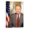 iCanvas Political Bill Clinton Portrait Photographic Print on Canvas
