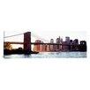 iCanvas Panoramic Brooklyn Bridge, East River, Manhattan, New York City, New York State Photographic Print on Canvas