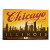 iCanvas 'Chi-Town - Chicago, Illinois' by Anderson Design Group Vintage Advertisement on Canvas