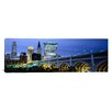 iCanvas Panoramic Bridge in a City Lit Up at Dusk, Detroit Avenue Bridge, Cleveland, Ohio Photographic Print on Canvas