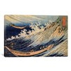 iCanvas 'Choshi in the Simosa Province from Oceans of Wisdom (Hokusai Ocean Waves)' by Katsushika Hokusai Painting Print on Canvas
