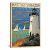 iCanvas 'Blue Martha's Vineyard, Maryland' by Anderson Design Group Vintage Advertisement on Canvas